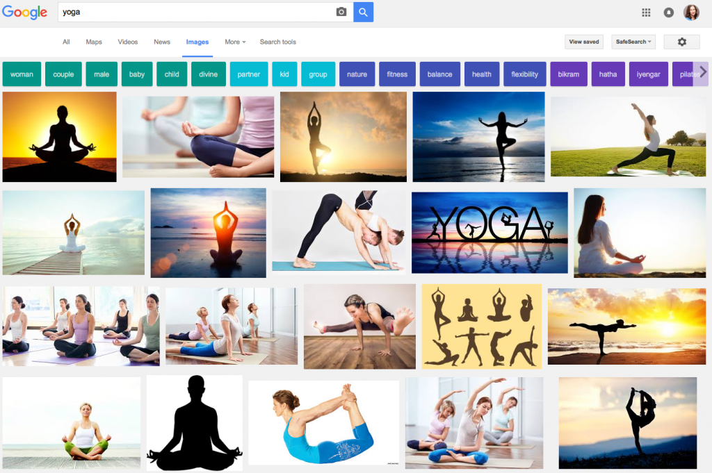 """Yoga"" Google search, July 2016"