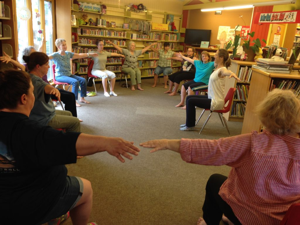 Teaching Yoga at the Bolivar-Harpers Ferry Library